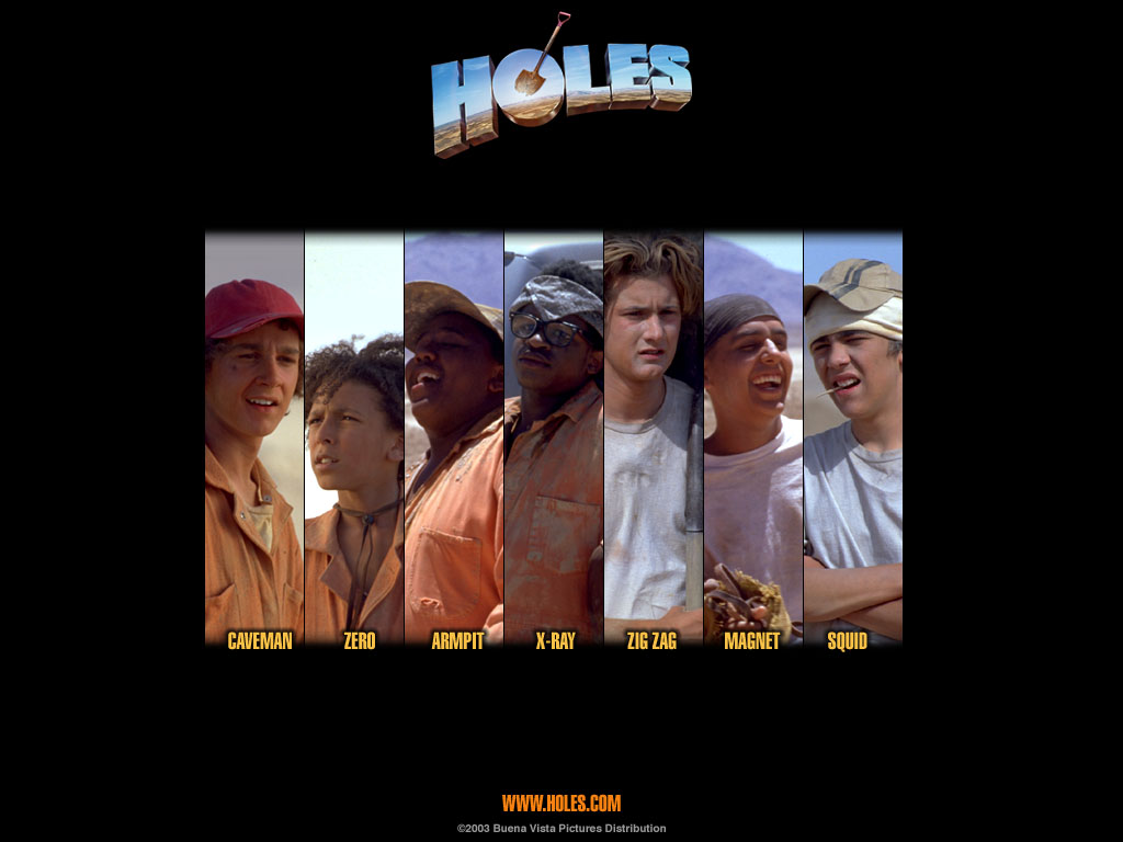 "Characters of the movie ""Holes"" 